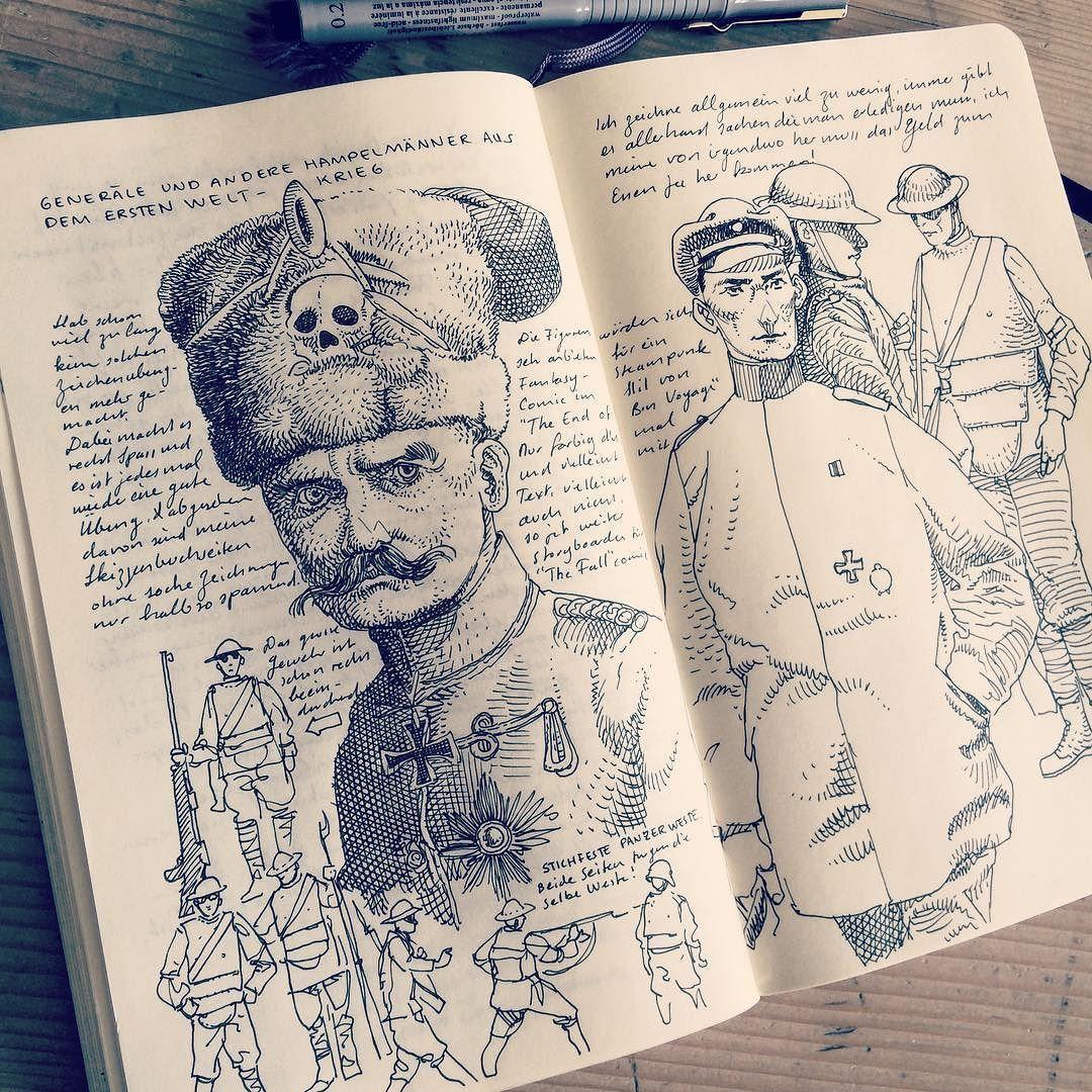 illustrazioni su moleskine