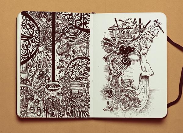 moleskine con disegni