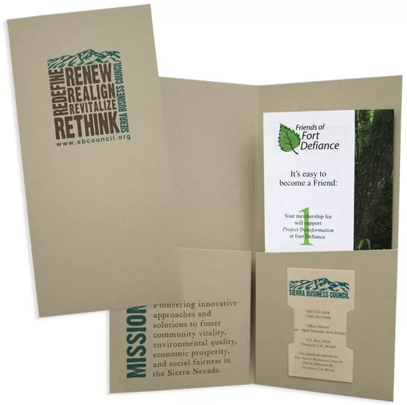 cartellina con carta naturale