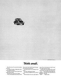 """""""Think small."""": la semplicità nell'advertising"""